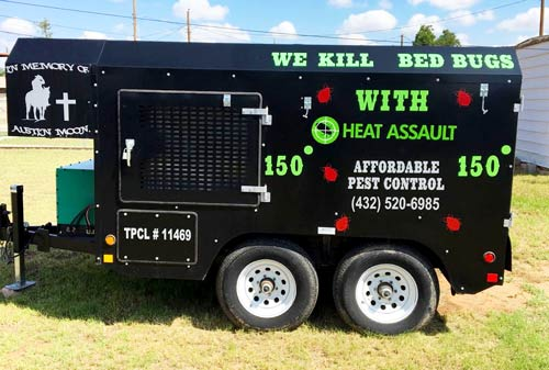 bed bugs heat treatment trailer